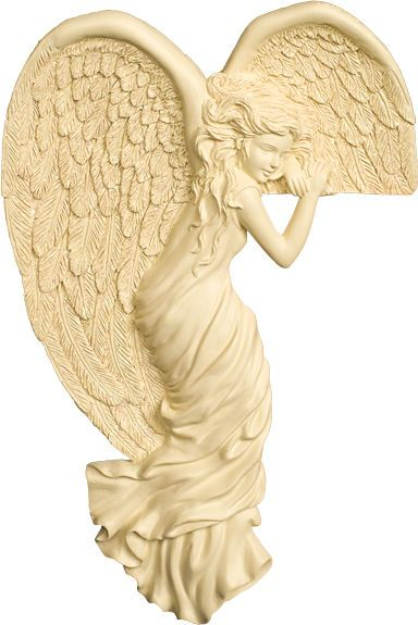 """Angel Star Corner Angels love to sit on door frames, mirrors, picture frames, book cases, monitors or any other edge where they fit.  Left Side Corner Angel is approx. 8"""" x 5.25"""""""