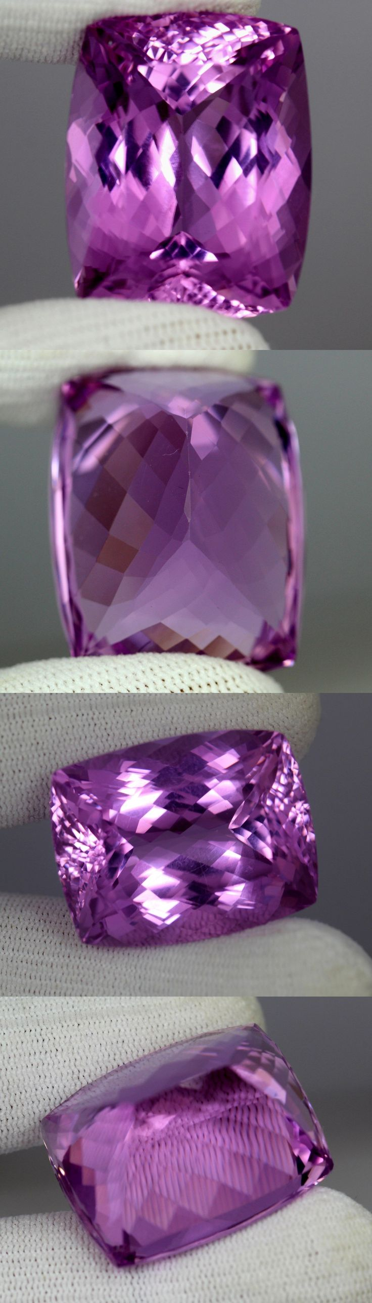Kunzite 110798: Flawless 109.25Cts Cushion Cut Natural Aaa Color Pink Patroke Kunzite -> BUY IT NOW ONLY: $1350 on eBay!