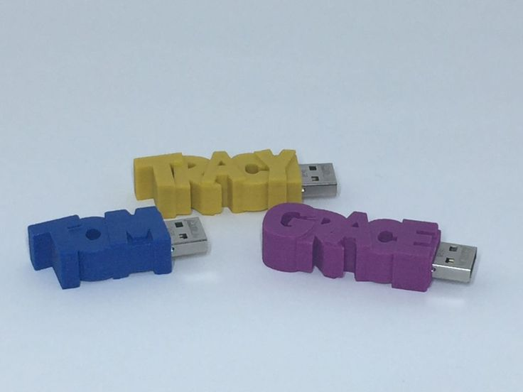 Custom flash drives (3D printed!) from FormURLife made for the 3D Start Point Team | Unique gift idea