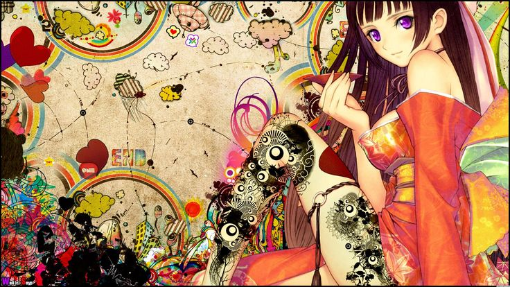 Anime Girl Japanese Tattoo Wallpaper, Size: 1920x1080 | AmazingPict.com - HD Wallpapers and Background Pictures