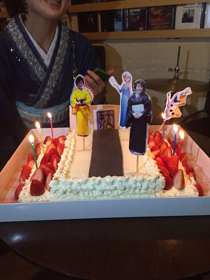 ランウエイのケーキ