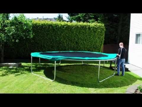 Super Fun Round Trampoline Assembly Video - YouTube