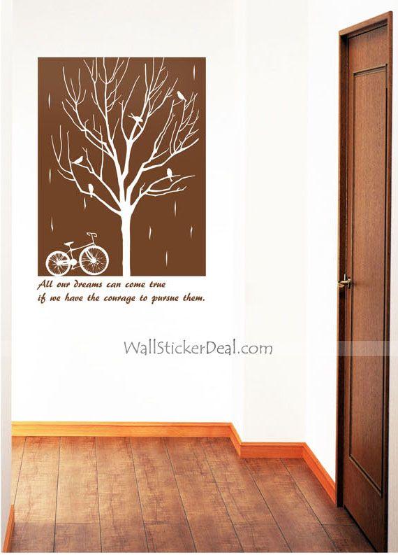 Rain Bike Urban Wall Stickers Part 98