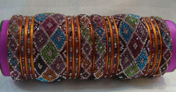 Multi-Coloured Jumbo Wedding Bangles from Lal10.com