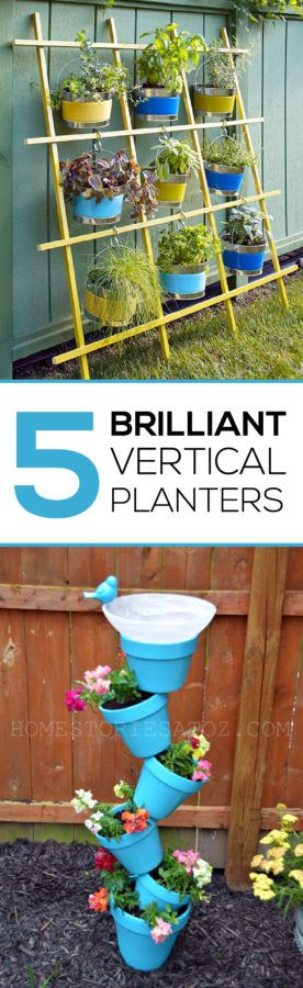 These Vertical Planter s are perfect for small spaces, they add so much color. I love this blog, she has great ideas!