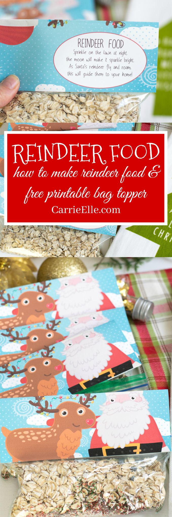 How to Make Reindeer Food (reindeer food recipe and printable bag topper with adorable poem!)