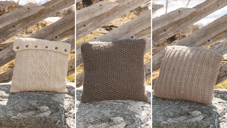 Strik selv de fine sofapuder der er både smarte og trendy - og måske en oplagt gaveidé. Her får du opskrifter på en ribstrikket, en perlestrikket…
