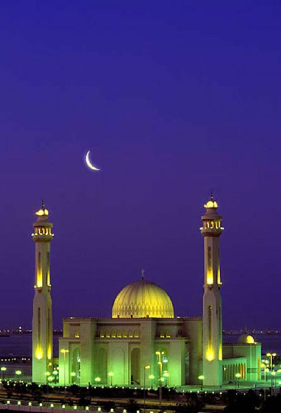 Al Fateh Mosque (Bahrain). I could see this exact view from my balcony. www.HotelTravelVacation.com