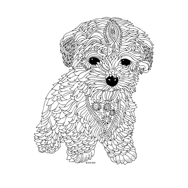 The dog printable coloring page by keiti coloring for Dog crafts for adults