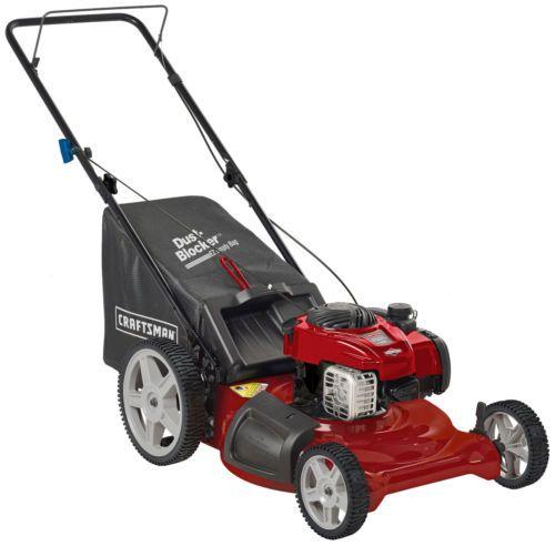 """Craftsman 5.50 Engine Torque Rear Bag Walk Behind Push 21"""" Lawn Mower with Mulch"""