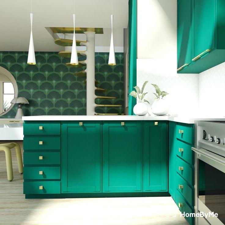 Kitchen Green & Gold In 2020