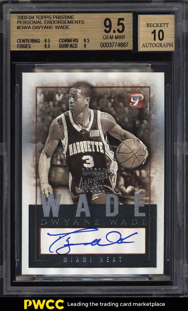 2003 Topps Pristine Personal Endorsements Dwayne Wade Rookie