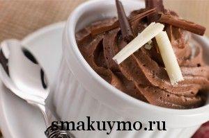 Французский десерт Мусс из шоколада