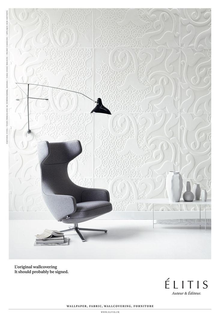 L'original wallcovering. 3D material. useful width 123cm #wallcovering,  #innovation. Wall DesignInnovationLiving RoomsWallpaperInterior ...