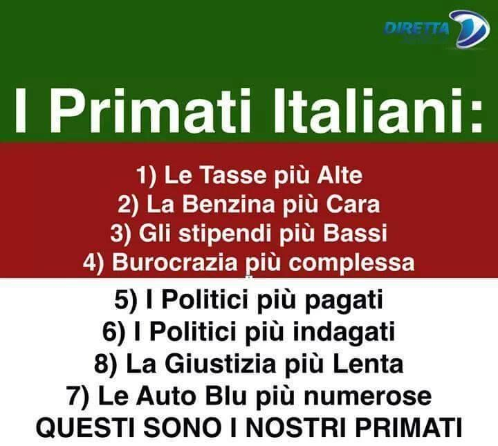 primati italiani da vergogna planetaria