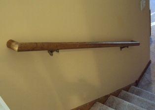 Installing A Wood Handrail, Stair Railing
