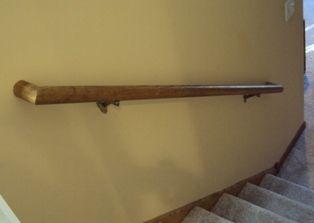 Installing A Wood Handrail, Stair Railing