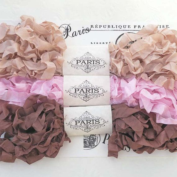 Seam BindingScrunched Shabby Crinkled Ribbon by EnchantedQuilling
