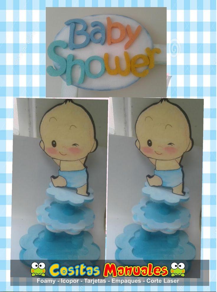 Decoraciones para Baby Shower , ideas y accesorios para selfies ; bases de bebe para colocar los Cupcake .  Servicio de pasabocas , recorda...