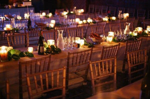 table runner ideas and decoration: Diy Ideas, Day Wedding2, Anniversaries Ideas, Centerpieces Candles, Runners Ideas, Foliage Centerpieces Simple, Centerpiece Simple, Brooklyn Bride, Tables Ideas