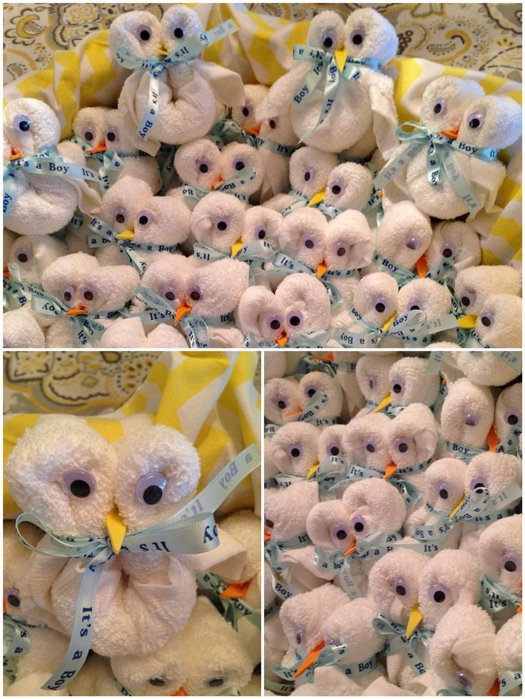 Baby shower owl favors. What you will need: One washcloth any size/type Googly…