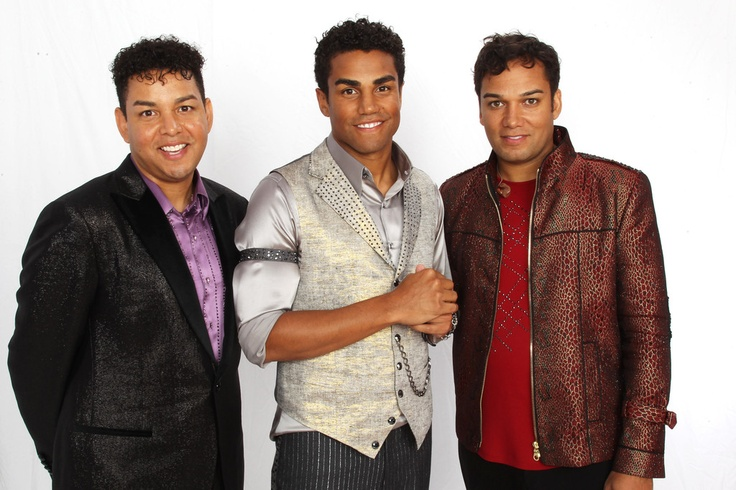 Taj Jackson, Taryll Jackson and TJ Jackson (3T) backstage at Forever Michael Tribute Concert at Millennium Stadium in Cardiff, Wales (UK), October 8th, 2011.