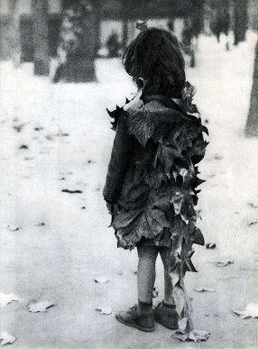 """""""La petite fille aux feuilles mortes"""" by Éduourd Boubat (1947)"""