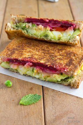 Bombay Sandwich | Grilled Masala Toast (Video)