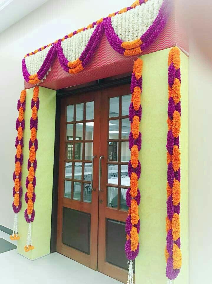Entry Door Flower Deco Indian Wedding Decorations Wedding Stage Decorations Beautiful Wedding Decorations