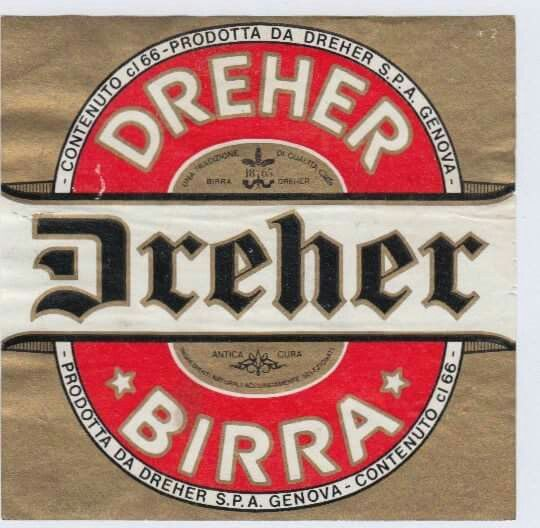 Dreher beer label #Gothic