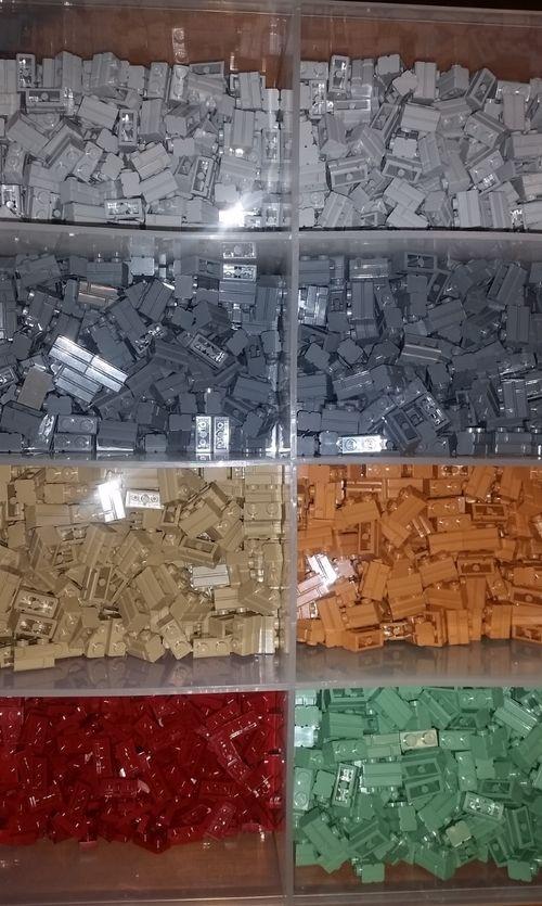Large trays showing bricks