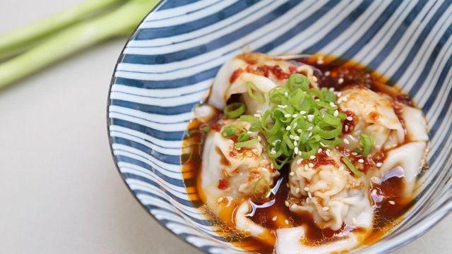 Shrimp & Pork Spicy Wontons in Chili Sauce | (紅油抄手)