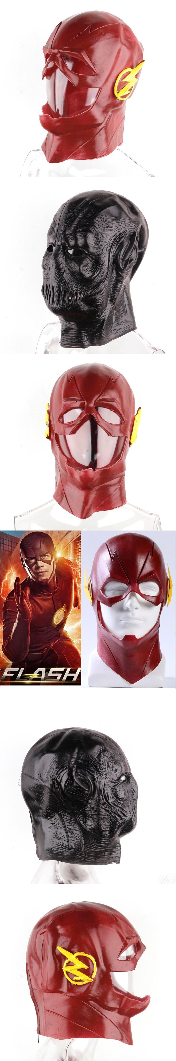 2 Types The Flash DC Movie Mask Black Red Color Halloween Home Party Full Face Mask Masquerade Parties Cosplay Costume Prop