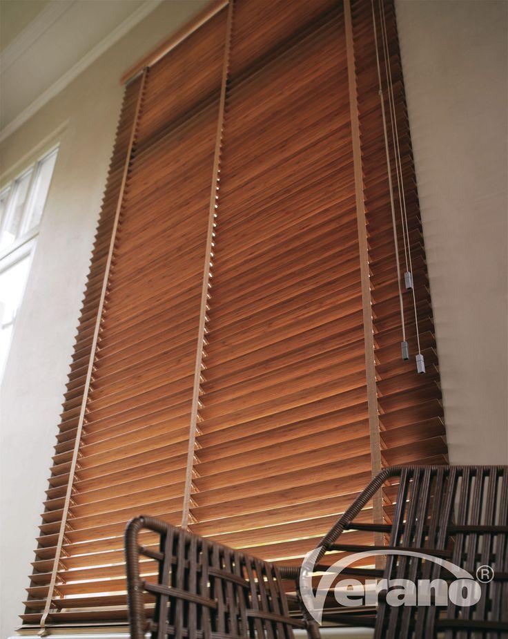 De houten #jaloezieën van Verano® geven uw interieur een natuurlijk warme uitstraling! #Verano #woodenvenetianblinds