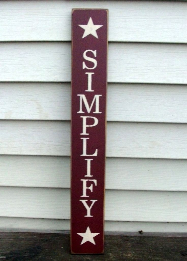 Country Wood Signs   Simplify Country Wood Sign by BedlamCountryCrafts on Etsy