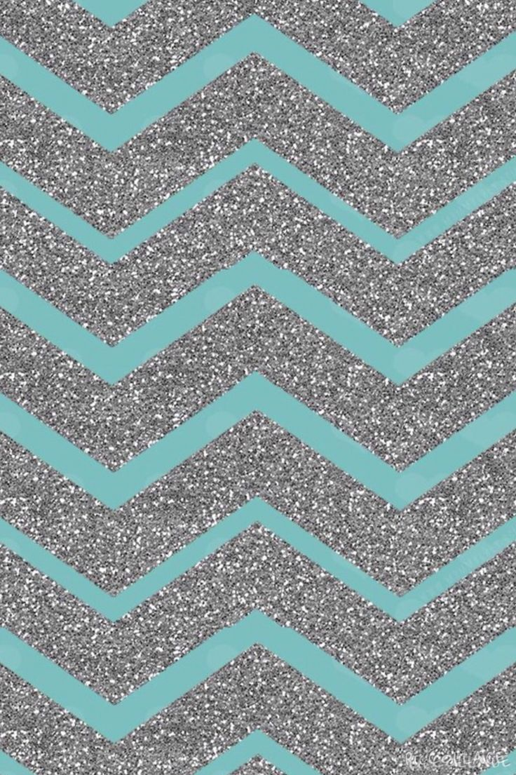 Iphone wallpapers tumblr chevron - Teal And Sparkly Silver Chevron Teal Backgroundiphone Backgroundsphone Wallpaperschevron