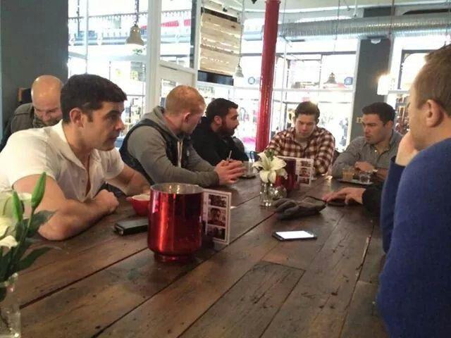 Wigan n saint share a coffee