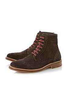 Bertie Cambridge heath colour pop brogue boots