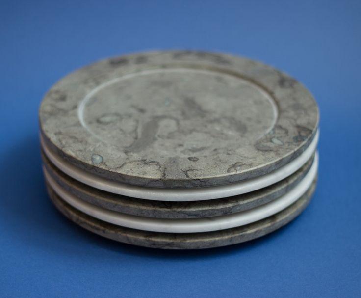Pile of marble and limestone plates from Stenhuggardottern. — #Marble #Limestone #Plate