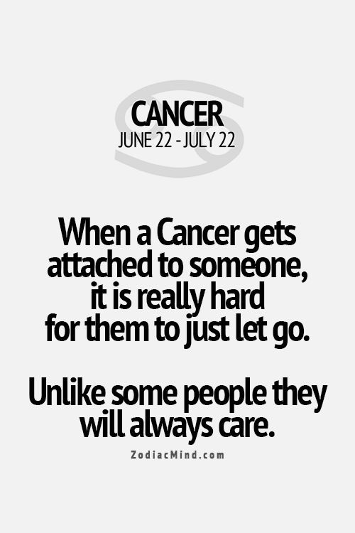 charming life pattern: cancer - horoscope - they always care .