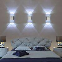 Hübsch Led Wandlampe 6W Kaltweiß Led Wandleuchte Transport Kristall Wandlampe DE
