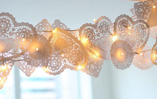 Romantische slinger met lichtjes