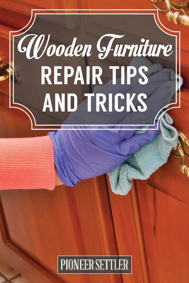 Easy Wooden Furniture Repair Tips and Tricks | DIY Home Improvement Tutorials by Pioneer Settler at http://pioneersettler.com/easy-wooden-furniture-repair/