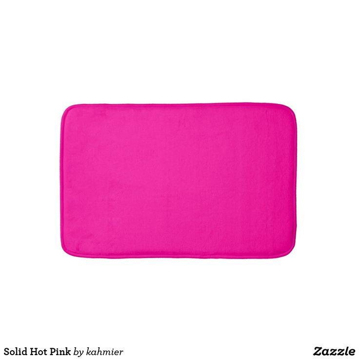 Solid Hot Pink Bathroom Mat 15% off www.leatherwooddesign.com