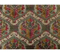 Patterned multicoloured chenille upholstery fabric