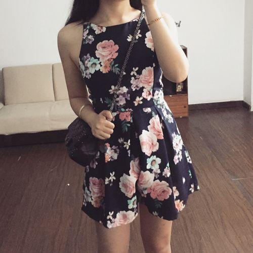 TANSSHOP saray Retro çiçek grafik siyah ve beyaz jartiyer şort gevşek bel parça pantolon - Taobao