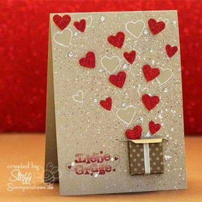 like the idea of a box full of hearts for Valentine.