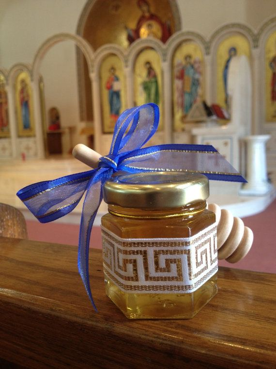 24 Qty Greek Baby honey shower Baptismal Bomboniere by holyhoney, $89.00
