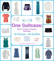 I'm totally doing this... and not just for vacation! I'm going to streamline my entire wardrobe into a collection of pieces. ee.