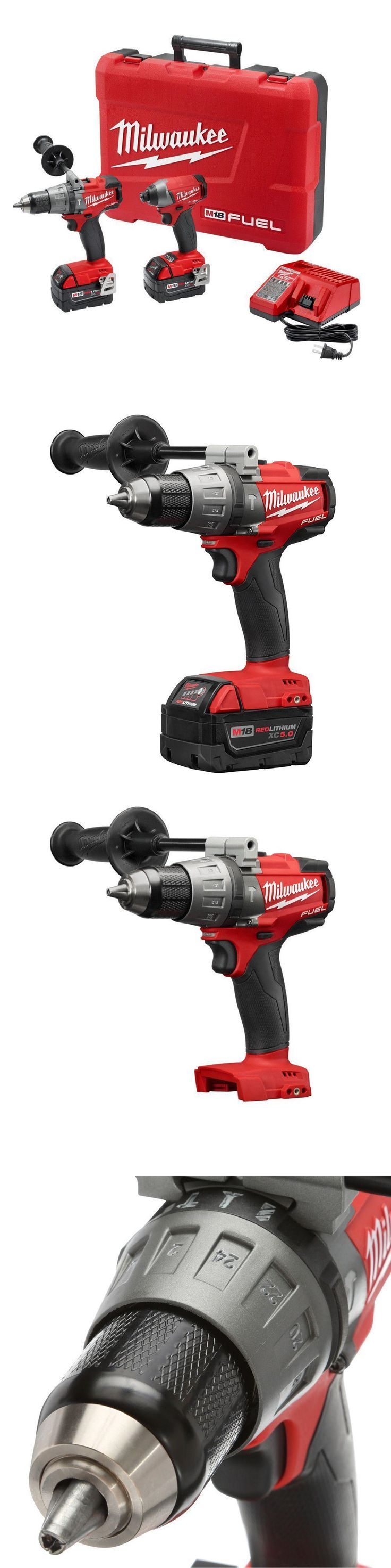 Combination Sets 177000: Milwaukee M18 Fuel 18V Brushless Hammer Drill Impact Driver Combo Kit 2897-22 -> BUY IT NOW ONLY: $299.99 on eBay!